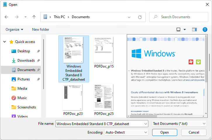 PDF Preview for Windows 11